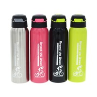 500ML Healthy Stainless Steel Metal Thermal Straw Water Bottle Sports My Bottle Four Color Portable Bicycle