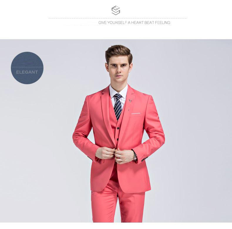 Aimenwant marca trajes de hombre vino rojo slim fit novio boda ...