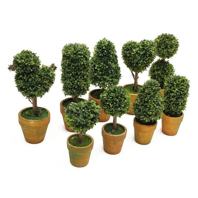 Artificial Garden Grass Buxus Balls Boxwood Elegance Topiary Landscape Fake  Trees Pots Plants For Wedding Arrangement