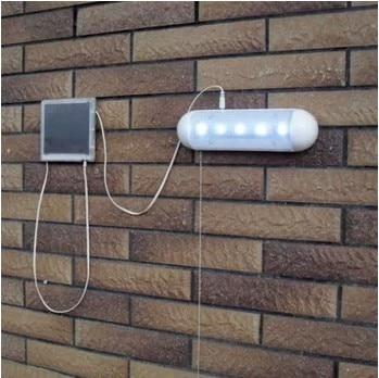 Populære Split Solar Pull Light 5 LED Udendørs nødlys Let holdbar Rustfri Stål Plastic Garden / Hallway Solar Wall Lamp