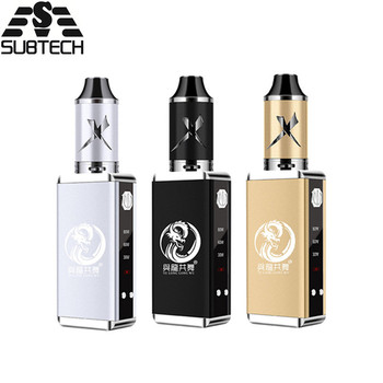 Original 80w vape kit Built-in 2200mah battery with 3.5ml tank electronic cigarette LED display 0.3ohm coil box mod vaporizer hot original adjustable 30w 50w 80w vape kit built in 2200mah battery with led display electronic cigarette huge vaporizer kit
