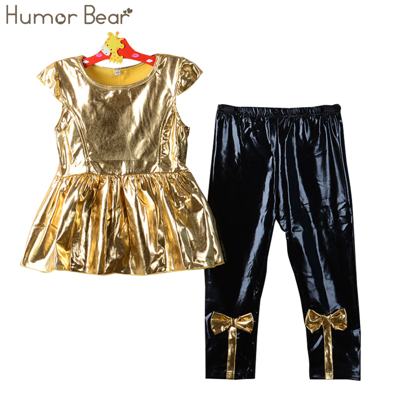 Humor Bear Girls Clothes 2016 Brand Girls Clothing Sets Kids Clothes Children Clothing Toddler Girl Tops+ Pant 2-6Y dhl equick ems shipping 6 sets girls clothing sets lots fashion kids clothing sets 2017 top jean pant 2pcs girls clothes sets