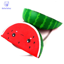 16cm Watermelon Squishy Slow Rising Jumbo Kawaii Smiling Face Kids Antistress Toy Squeeze Fun Home Office Used P15