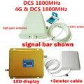 Pantalla LCD Del Teléfono Móvil GSM Repetidor 1800 MHz Amplificador de Señal/4G LTE DCS Amplificador de Señal Del Repetidor con Antena LPDA Completo conjunto
