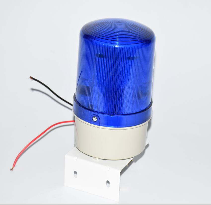 Blue Color Security Alarm Strobe Signal Warning Light LED Lamp Flashing Light Siren With Bracket