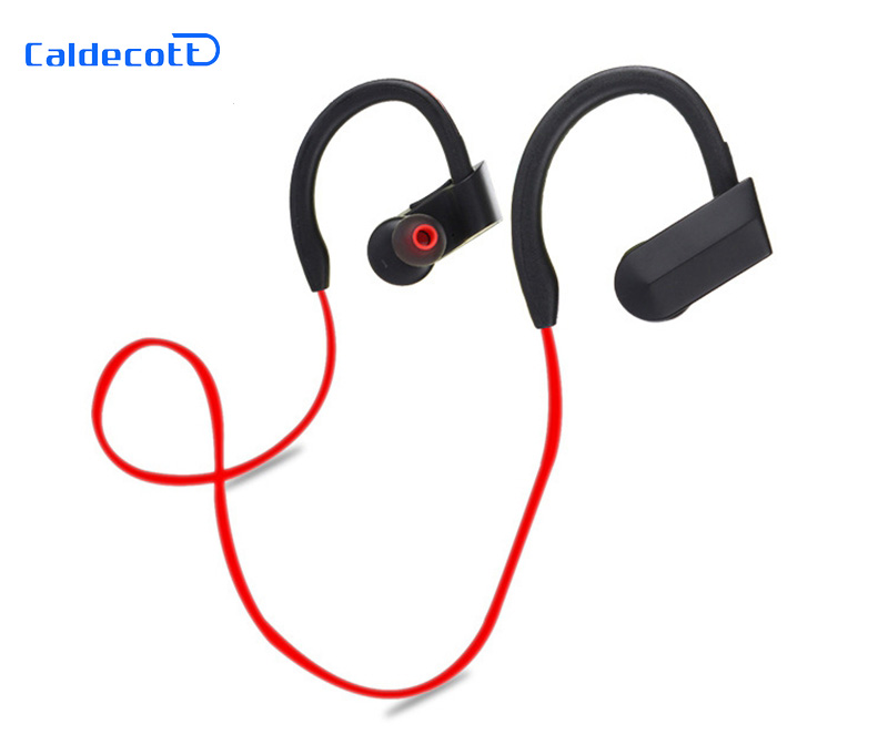 2017 New Bluetooth 4.1 Sport Earphone Handfree Wireless Bluetooth Headset Earphones with Mic Sports Ear-hook Bluetooth Earphone