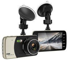 Full-HD 1080P 4.0 Inch IPS Screen Car DVR Camera Dual Lens Motion Detection Mini Driving 170° View Angle