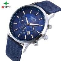 NORTH Men S Wrist Watches Top Brand Luxury Quartz Watch Relojes Hombre Man Watch 2017 Steel