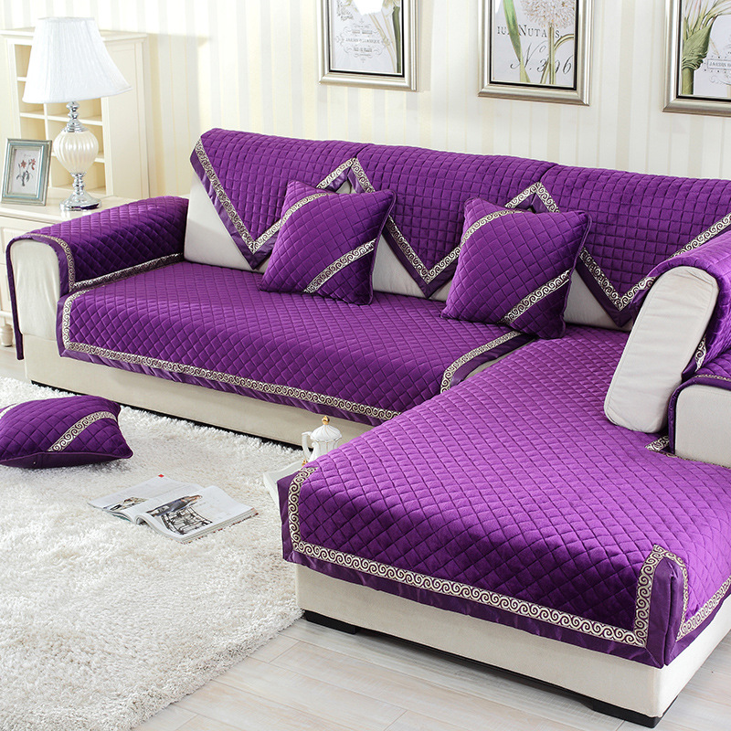 Solid Thick Sofa Covers For Living Room Anti Slip Couch