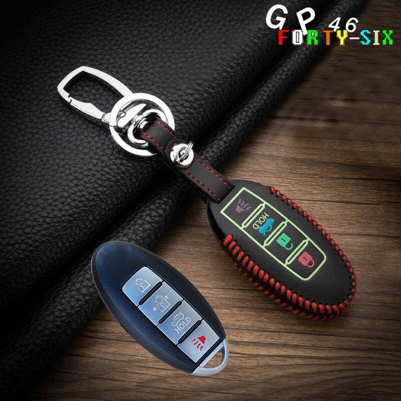 Luminous Leather Car Remote Key Cover Case For Nissan Qashqai J11 X-Trail t30 t31 t32 Pathfinder Tiida Teana Note Juke 2014 2015