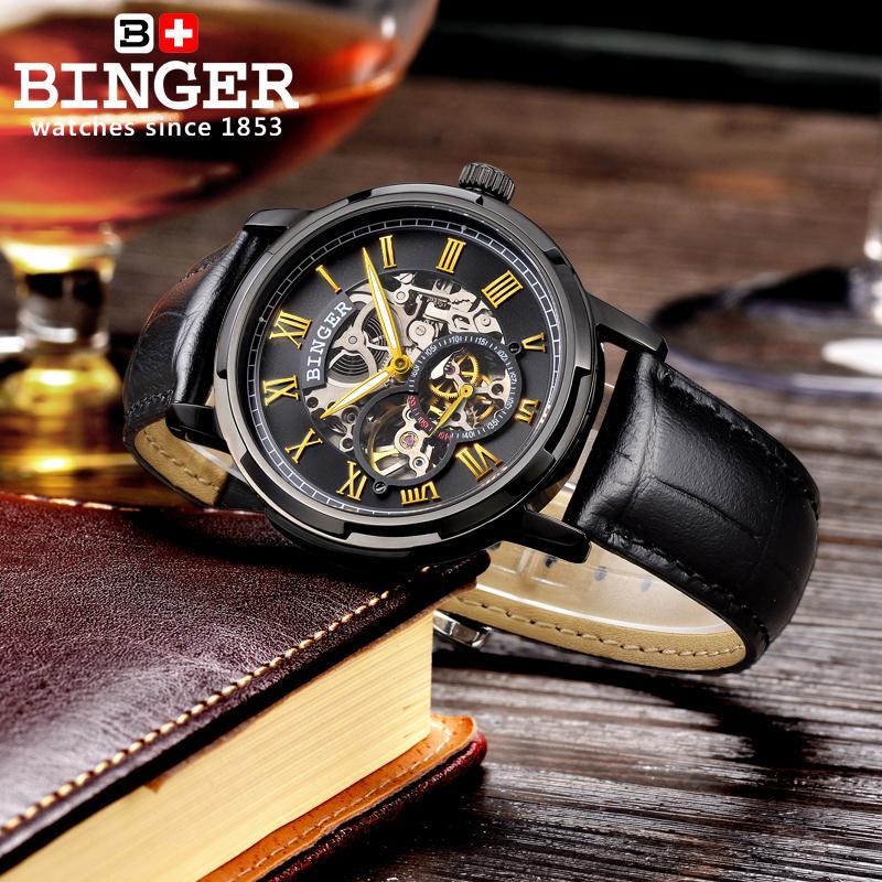 Szwajcaria zegarki męskie zegarki męskie luksusowej marki BINGER - Męskie zegarki - Zdjęcie 4