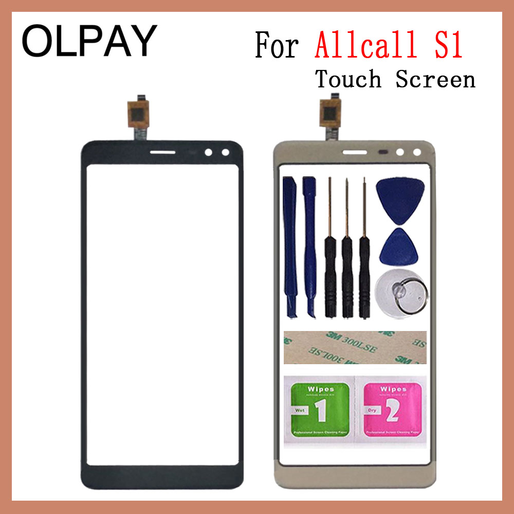 OLPAY 5.5 inch 100% New For Allcall S1 Touch Screen Digitizer Panel Front Outer Front Glass Lens Sensor Free Adhesive+Wipes|Mobile Phone Touch Panel| |  - title=