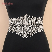 YouLaPan SH238 Fast delivery Sliver diamond wedding belts Wedding dress belts accessories Rhinestone bridal sash belt