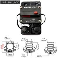50 Amp Circuit Breaker Trolling with Manual Reset, 12V 48V DC, Waterproof