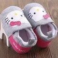 Dulce Hello Kitty Muchachas de La Princesa de Deslizamiento En Los Zapatos de Prewalker Cuna bebé Recién Nacido Suela Blanda Primera Walker Zapatos de Bebé de Algodón