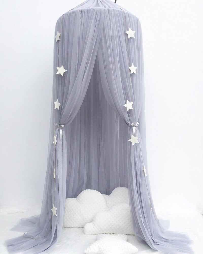 Круглый детская кровать навес, противомоскитная сетка детская кроватка висячий купол детская игровая палатка принцесса навес балдахин подзор Детская комната украшения