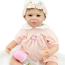 22 Inch 50-55 CM Handmade Lifelike Silicone Reborn Baby Dolls Soft Body Newborn Babies Alive Doll Toys For Baby Growth Partners