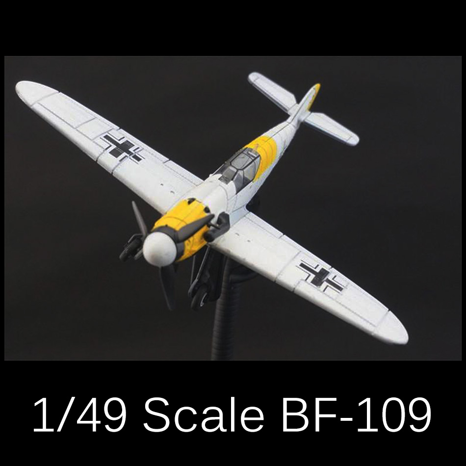 2017 New 4D Model Plastic Aircraft Model 1/49 playmobile brinquedos toys for children boys Messerschmitt BF-109 Fighter