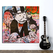 Monopoly By Alec Canvas Painting Living Room Home Decoration Modern Wall Art Oil Posters Pictures HD