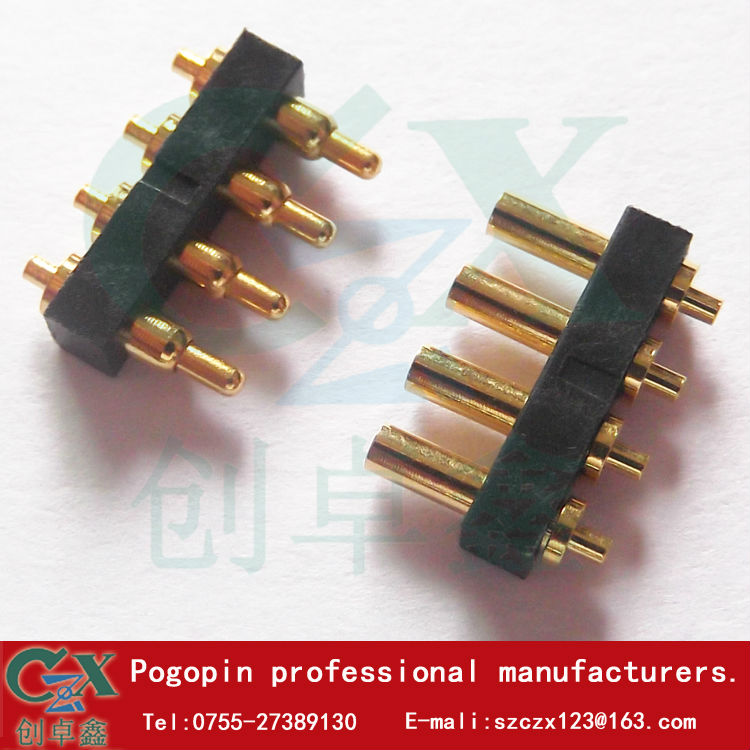 4 pin male female spring pin connector 2.0*6.85 pogo pin large current battery  test pin