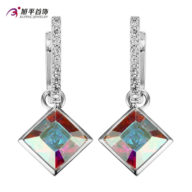 Crystal from Swarovski Xuping Fashion Earring High Quality Charm Style Colorful Color Plated Charm for Women GiftXE2324