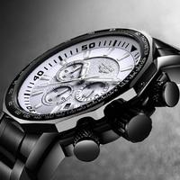 Relogio Masculino 2018 Top Brand Luxury Watch Men Watches Waterproof Stainless Steel Military Wristwatch Big Dial Clock Male