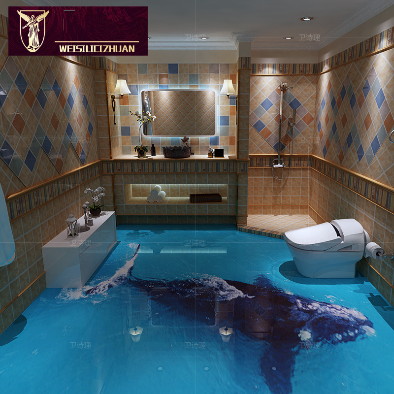 Export Products Whale 3D Floor Tiles 3D Ceramic Tile Bathroom Kitchen Non  Slip Wear Resisting 8d Polished Crystal Full Body Tile On Aliexpress.com |  Alibaba ...