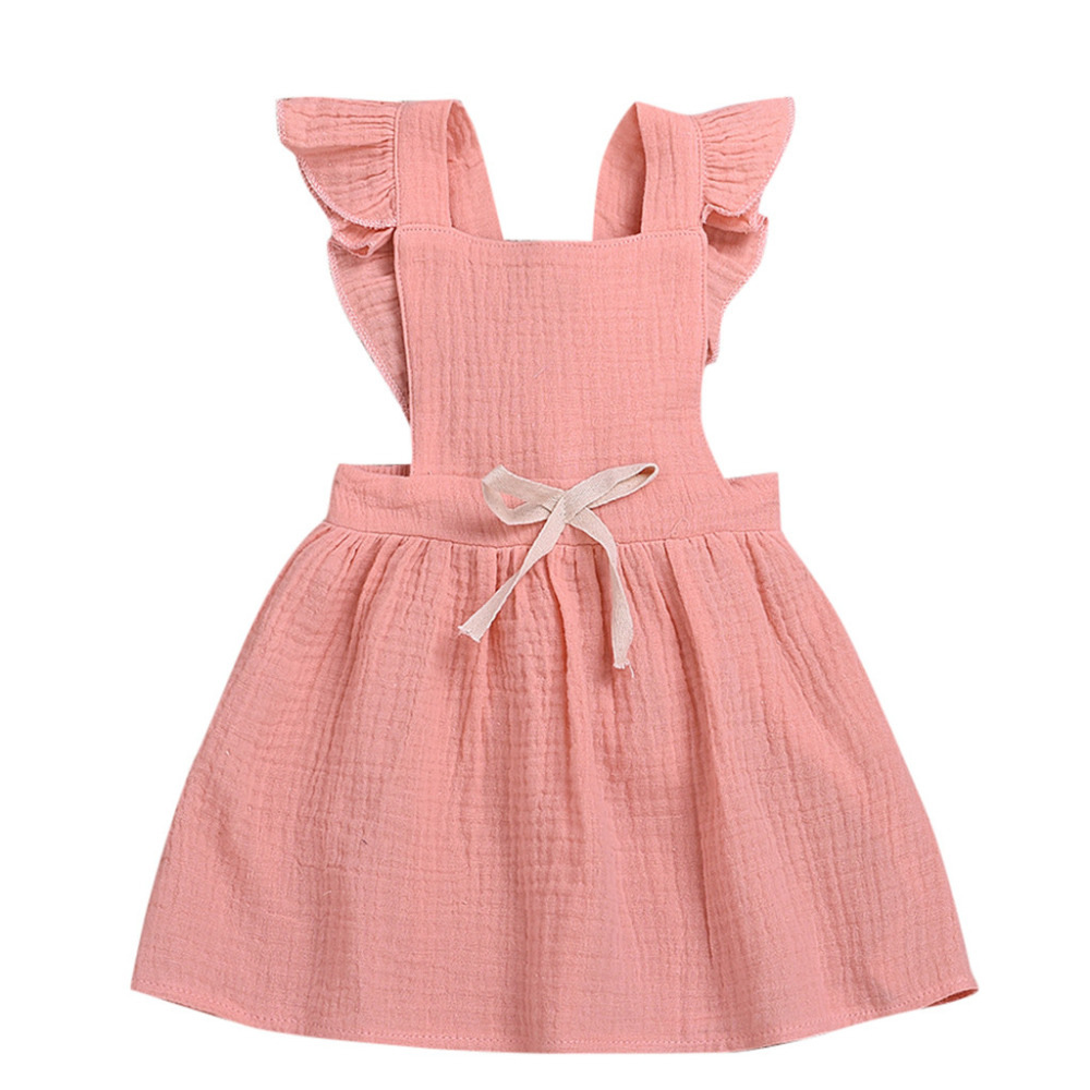 fda29072b MUQGEW bebé niña ropa verano recién nacido niños bebé niña sin mangas  sólido Ruffled arco ...