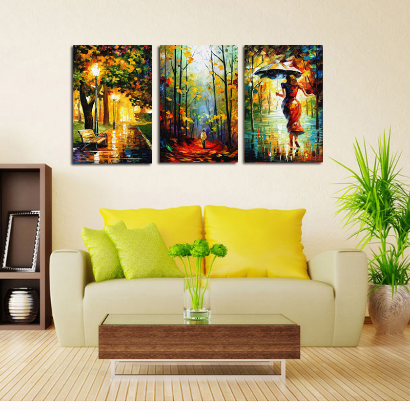 Home Decor Canvas Art Wall Painting Abstract Oil Painting Street ...