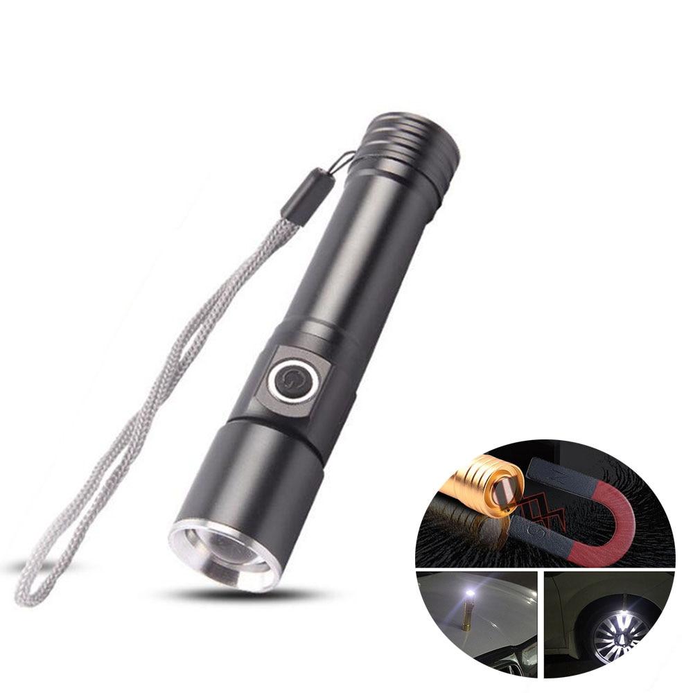 Mini imán Q5 led Linterna 1600 Lumen luz de flash Linterna táctica Foco ajustable lanterna Zoomable Antorcha lámpara para acampar