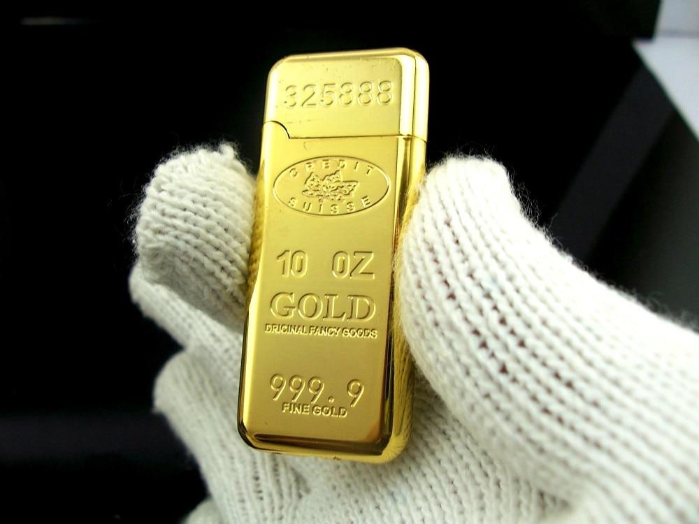 10 Oz 999 9 Fine Gold Bar Shape Lighter Windproof Cigar Lighters Jet Gas Butane Cigarette In From Home Garden On Aliexpress Alibaba