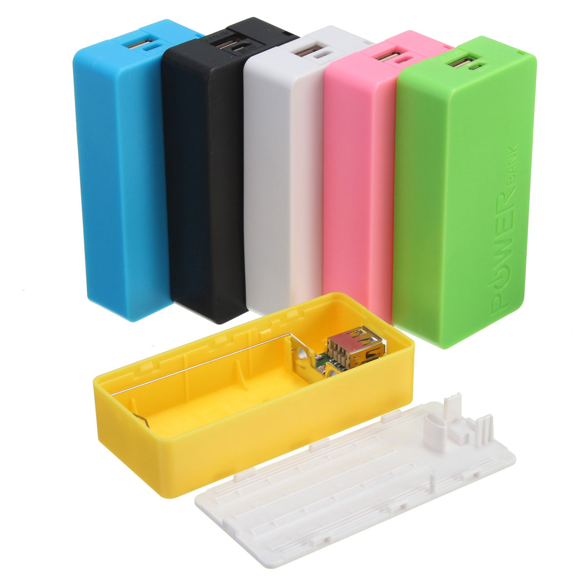 Multicolor Portable Safety USB Power Bank 2x 18650 Battery Charger DIY Box Case Kit universal Pro for all Smart Cellphone Device