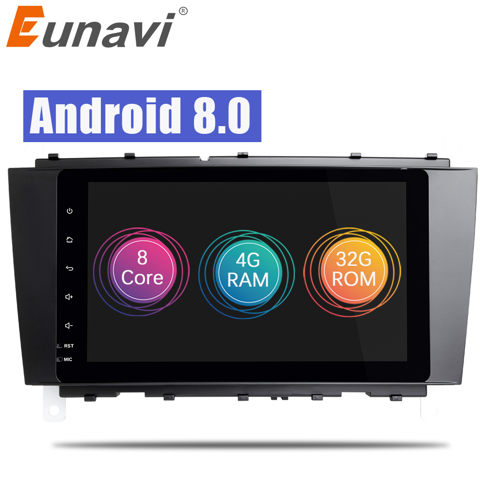 Eunavi 9'' 2 Din Android 8.0 Car Radio GPS Stereo for Mercedes Benz C Class W203 S203 C180 C200 CLK Class C209 W209 C208 W208 wireless control rgb color interior under dash floor accent ambient light for mercedes benz clk mb c208 a208 c209 a209 c207 a207
