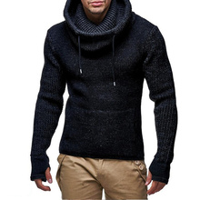2019 Men Sweater Pullover Male Brand Casual Slim fit Sweaters Men Thick Hedging Turtleneck Men's warm High collar knit Sweater