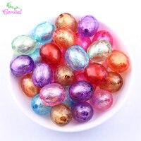 Venda quente Da Moda DIY Handmade Jóia Do Grânulo 20 MM 100 Pçs/lote Oval Contrariado Beads Color Mix Acrílico Talão Em Talão para a Jóia