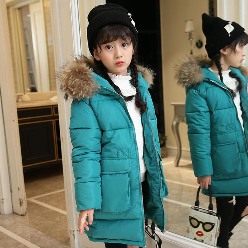 Fashion Girls Winter Down Jackets Children Coats Warm Thick Down Kids Outerwears For Cold -30 Degree Jacket Manteau Fille Hiver fashion 2017 girl s down jackets winter russia baby coats thick duck warm jacket for girls boys children outerwears 30 degree