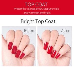 Image 4 - R.S NAIL 15ml Top and Base Coat Gel Nail Polish Manicure Easy Soak Off primer for nails UV LED Nail Art Transparent Gel Polish