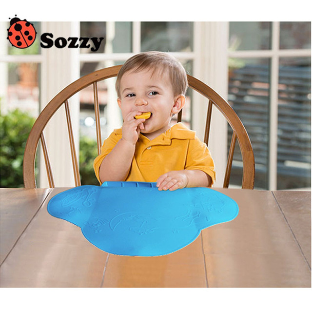 Waterproof silicone Baby bib Table Mat Silicone Pad Dishes Infant Diner Portable Placemat for kids Baby Feeding-baby place mat