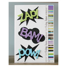 Bam Zap Pow Word Letter Metal Cutting Dies for Scrapbooking New 2019 Crafts Die Cuts Card Making Album Embossing