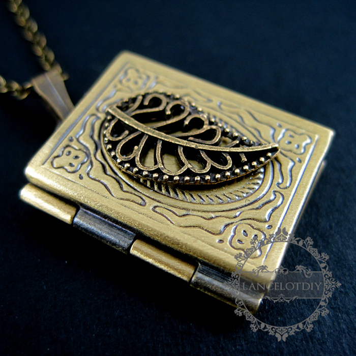 18inch vintage leaf antique bronze square book locket pendant charm 18inch vintage leaf antique bronze square book locket pendant charm fashion necklace 6350310 in choker necklaces from jewelry accessories on aloadofball Images