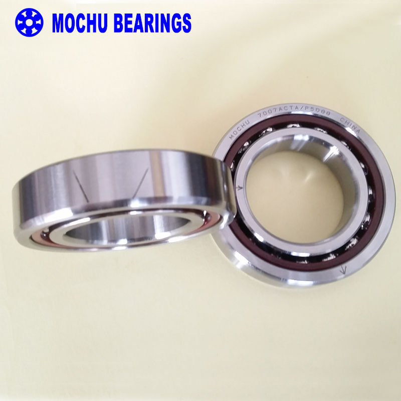 1pair MOCHU 7007 7007AC 7007ACTA/P5DBB 35x62x14 Angular Contact Bearings Spindle Bearings CNC ABEC-5 DB 1pcs 71822 71822cd p4 7822 110x140x16 mochu thin walled miniature angular contact bearings speed spindle bearings cnc abec 7
