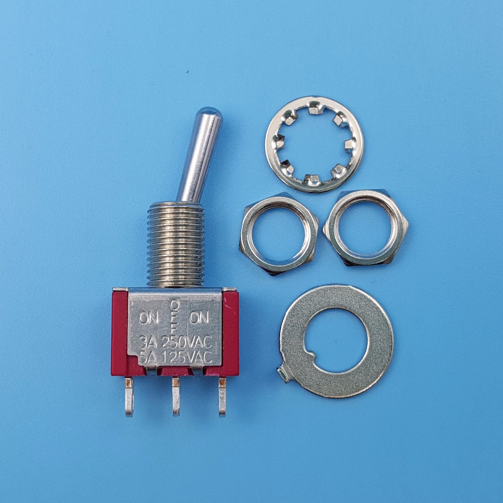 10Pcs SH T8014 ON OFF ON 3Pin Maintained 3 Position SPDT Mini Toggle ...