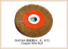 free shippingf!!! 6inch, gh016A copper wire buffer, jewelry polishing wheel, goldsmith tool abrasive burnishing brush