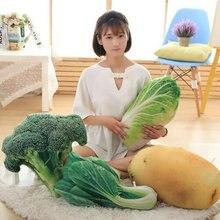 Drop Shipping 40cm 2017 New vegetable Plush Toys bitter gourd Potato greens Pillow Cushion Cloth doll
