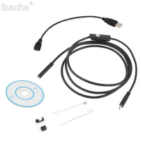 3 5m Waterproof Endoscope Mini HD Camera Snake Tube 5 5 Mm Lens Rigid Cable