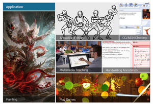 """Image 5 - Parblo Küste 10 Grafik Monitor 10 """"Screen Zeichnung Tablet mit Batterie freies Stift Unterstützung Win Mac + Anti  fouling Handschuh als Geschenk"""