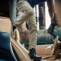 АК КЛУБ Марка Повседневные Брюки Прямые Полная Длина Брюки Все-Матч Дизайн 100% Хлопок Саржа YKK Молния Мужчин Брюки 1512047