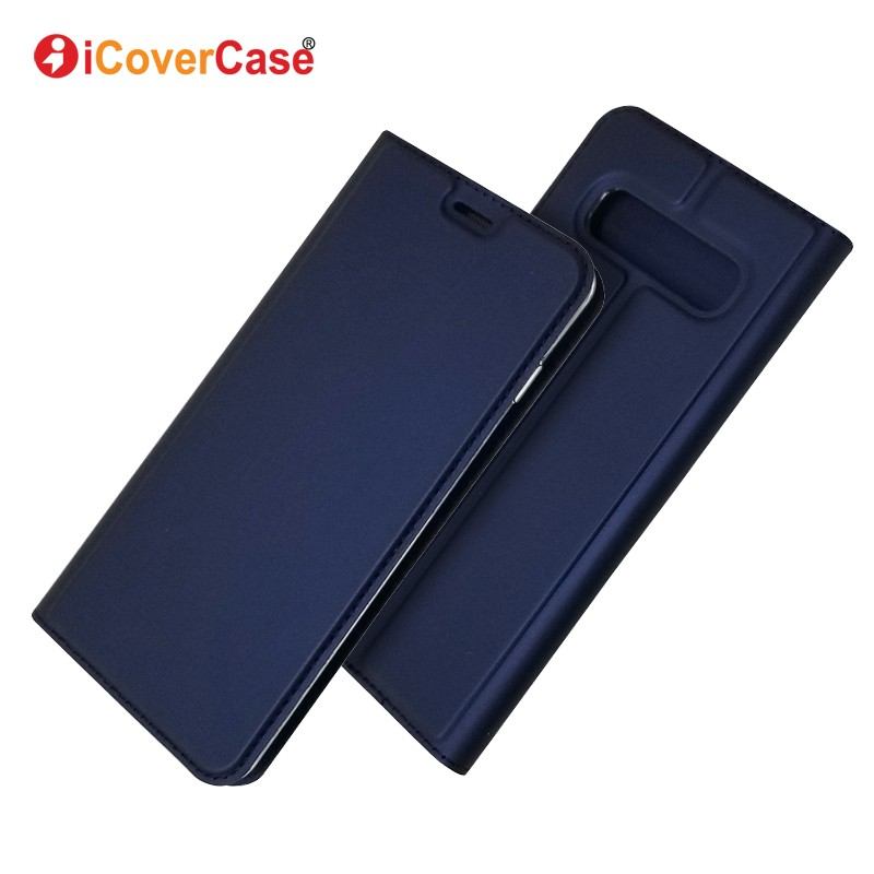 For Samsung Galaxy S10 Plus S10E Ultra-thin Magnetic PU Leather Wallet Flip Stand Case Cover