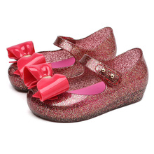 Melissa Shoes Little Bow Girls Sandals 2019 New Jelly Bowtie Toddler Princess