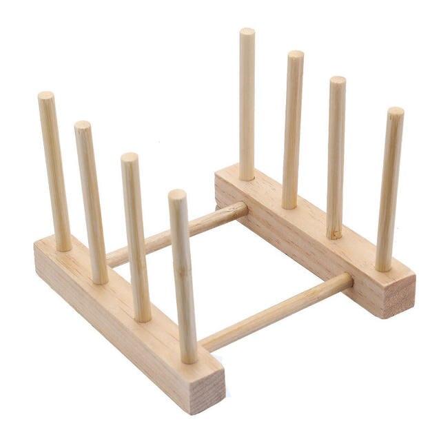 Online Shop Natural Bamboo Folding Dish Drying Rack Pot Lid Flatware ...